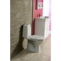 Aqualine RIGA monoblokkos WC, alsó kifolyású, króm duál gombos öblítőmechanika, WC-ülőke nélkül