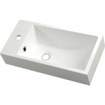 Sapho ARIANA öntöttmárvány mosdó, balos, 50x10x25cm