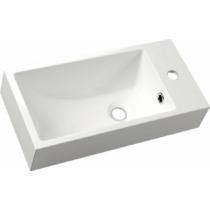 Sapho ARIANA öntöttmárvány mosdó, jobbos, 50x10x25cm