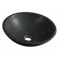 Blok kőmosdó, átm:40cm, matt Marquin fekete