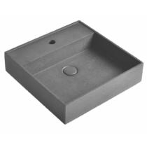 QUADRADO beton mosdó lefolyóval, 46x46cm, szürke gránit