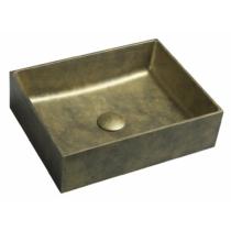 Formigo beton mosdó, 47,5x13x36,5cm, arany