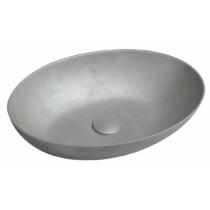 Formigo beton mosdó, 60x14,5x40,5cm, ezüst