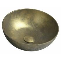 Formigo beton mosdó, átm:39cm, arany