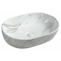 Sapho Dalma kerámiamosdó, 59x42x14cm, fehér márvány