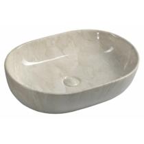 Sapho Dalma kerámiamosdó, 59x42x14cm, bézs márvány