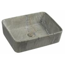 Sapho Dalma kerámiamosdó, 48x38x13cm, szürke márvány