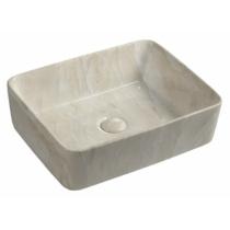Sapho Dalma kerámiamosdó, 48x38x13cm, bézs márvány
