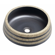 Priori kerámiamosdó, átm:41cm, fekete/kő