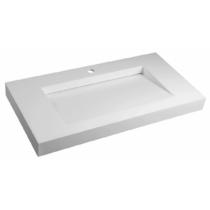 MINERVA öntöttmárvány mosdó, 90x8x46cm, matt fehér