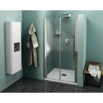 POLYSAN ZOOM LINE zuhanyajtó, duplaszárnyú, 1000mm, transzparent, króm