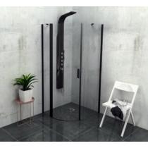 POLYSAN ZOOM LINE BLACK íves zuhanykabin, balos, 900x900mm,