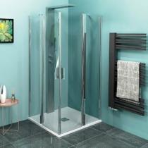 Sapho Polysan Zoom Line szögletes zuhanykabin, 900x900mm, transzparent, króm (6mm) 190cm magas