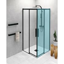 Polysan Altis Line Black zuhanyajtó, 80 cm, matt fekete, transzparent üveg