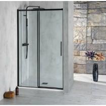 Polysan Altis Line Black zuhanyajtó, 110 cm, matt fekete, transzparent üveg