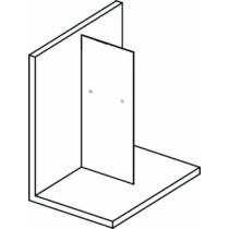 Sapho Polysan Modular Shower Fix zuhanyfal, törölközőtartó lyukakkal, 90 cm