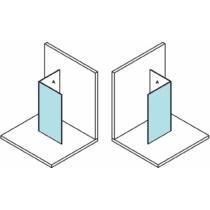 Sapho Polysan Modular Fix zuhanyfal, L típusú, 2/1-es modul, 80 cm