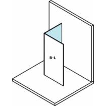 Sapho Polysan Modular Fix oldalfal, L típusú, 2/2-es modul, balos, 30 cm