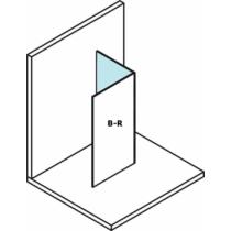 Sapho Polysan Modular Fix oldalfal, L típusú, 2/2-es modul, jobbos, 30 cm