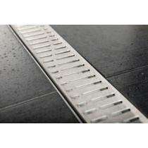 Sapho Gelco Manus Inox padlóösszefolyó Onda rosttal, 950x130x55mm