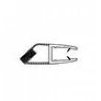 Ajtóélzáró mágneses profil Szögletes Kabinokhoz 4 mm 2 db