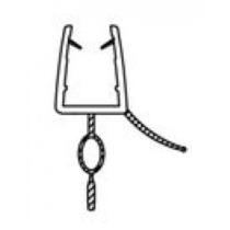 Vízzáró szilikon profil/alsó 5 mm