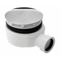 Zuhanytálca szifon 90mm bekötése: 40 mm, extra alacsony, magasság 51mm, fedél: polírozottinox