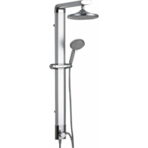 Aqualine Tour zuhanyoszlop csaptelepre köthető, csaptelep nélkül, mag.: 1100 mm, alumínium