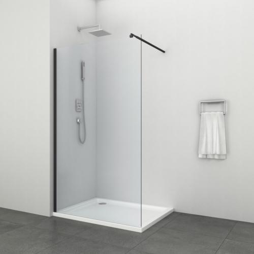 """FREEDOM II BLACK zuhanyfal """"EASY CLEAN"""" (8 mm)"""