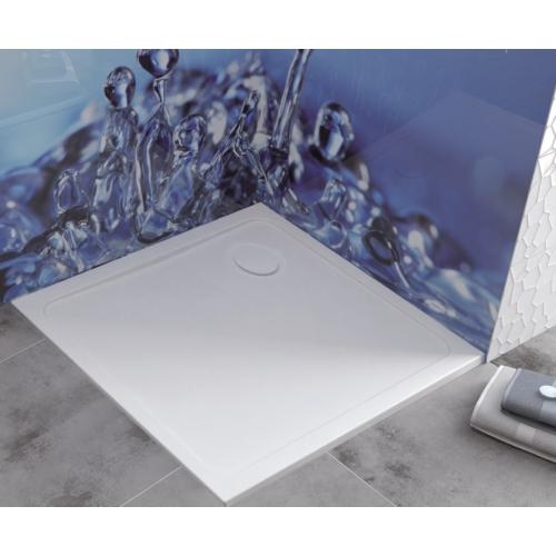 B/FREE 80x80x2,5+STB fehér akril zuhanytálca