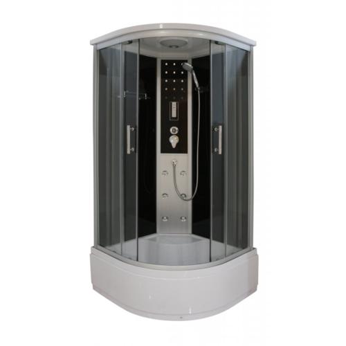 VITA hidromasszázs zuhanykabin ülőtálcával, elektronikával