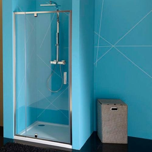 POLYSAN EASY LINE nyíló ajtó, állítható, 760-900mm, transzparent üveg