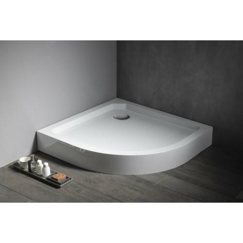 AQUALINE STARYL íves zuhanytálca, szifonnal 90x90x14cm