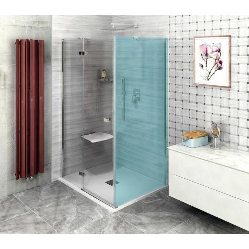 POLYSAN FORTIS LINE zuhanyajtó, oldalfalhoz, balos, 1000mm, króm