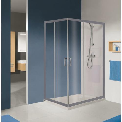 KN/TX5b szögletes tolóajtós aszimmetrikus zuhanykabin