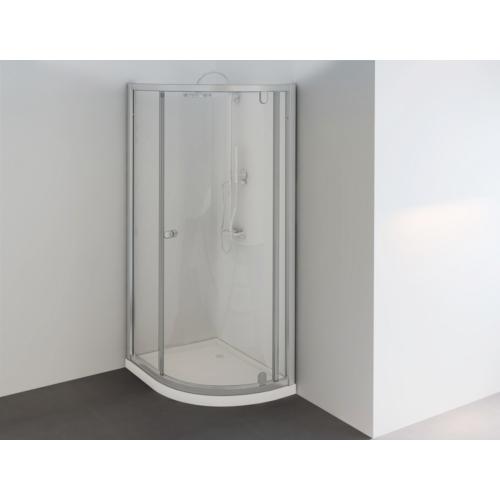 Sanotechnik Íves aszimmetrikus sarokkabin nyíló ajtóval (5mm)