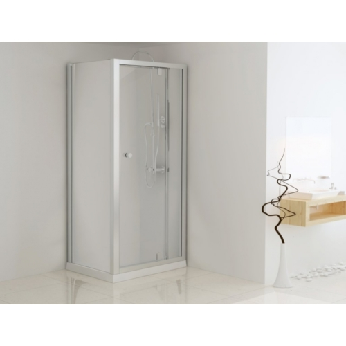Aszimmetrikus sarokkabin pivot ajtóval