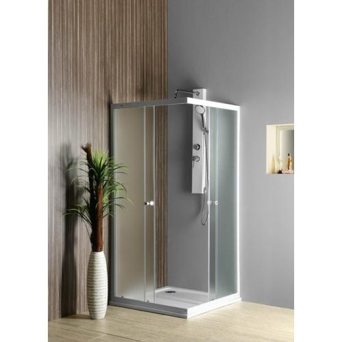 AQUALINE ALAIN szögletes zuhanykabin, 90x90cm,