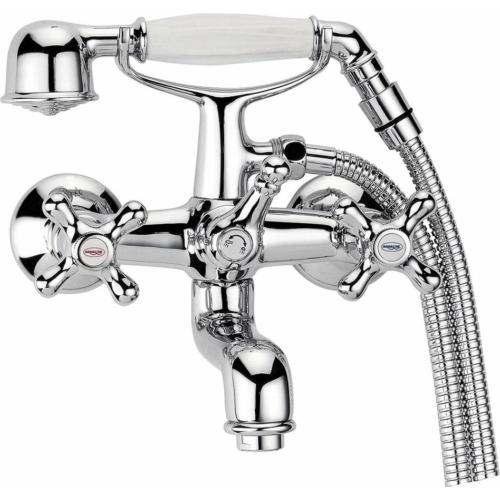 Aqualine Victoria kádtöltő csaptelep, zuhanyszettel, króm