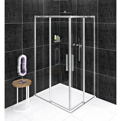 Altis Line szögletes zuhanykabin; 100 x 80 cm; átlátszó üveg