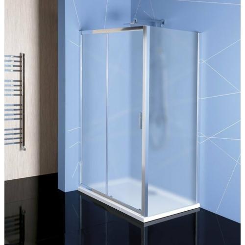 Polysan Easy Line zuhanyajtó (tolóajtó) oldalfallal, 110 x 70 cm, BRICK üveg