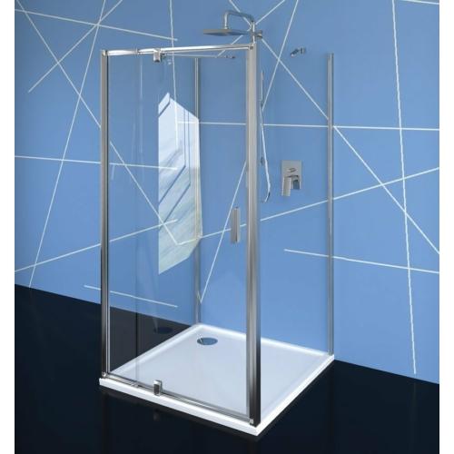 Polysan Easy Line nyílóajtó 2 oldalfallal, 2 merevítővel, 80-90 x70 cm, transzparent üveg