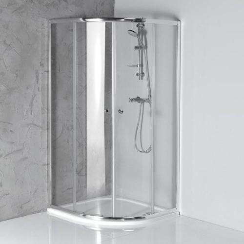 AQUALINE ARLETA íves zuhanykabin, 80x80x185cm,