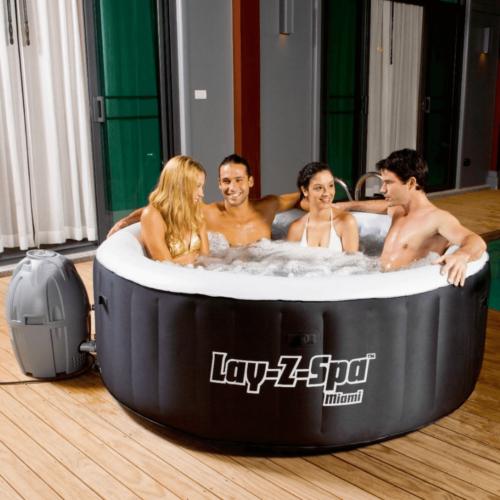 Lay-Z-Spa MIAMI felfújható jakuzzi 180 x 65 cm, 2-4 személyes