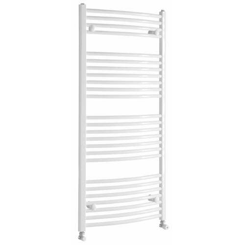 Aqualine Fürdőszobai radiátor, íves, 450x1322mm, 572W, fehér