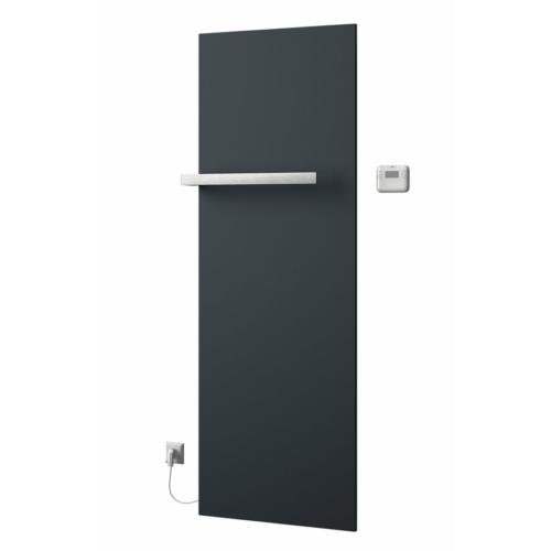 Sapho ELION elektromos fürdőszobai radiátor termosztáttal, 606x1765mm, 900W, metál antracit