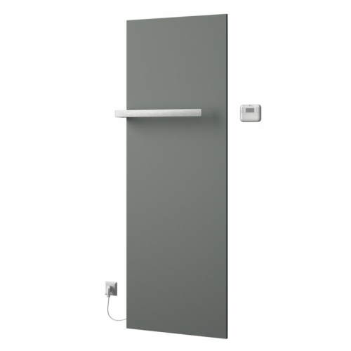 Sapho ELION elektromos fürdőszobai radiátor termosztáttal, 606x1765mm, 900W, metál ezüst