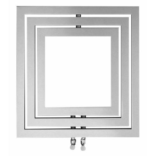 Sapho MONOPOLI fürdőszobai radiátor, 600x600mm, 312W, struktúrált ezüst