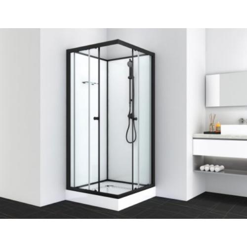 UNI 2 komplett zuhanykabin, fekete