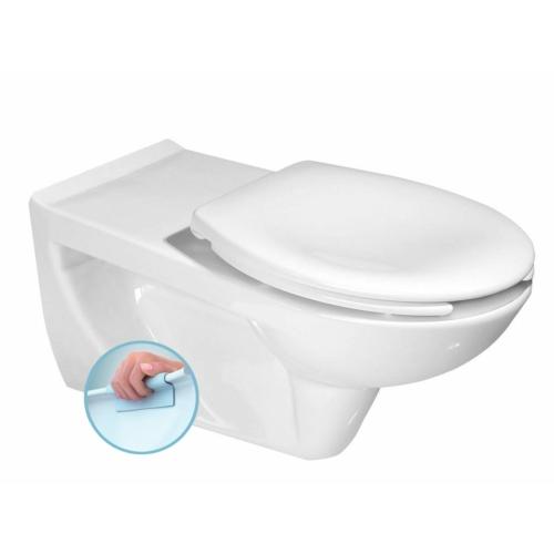 Sapho SENIOR Fali WC mozgáskorlátozottak, CLEAN ON, 37x73cm, WC-ülőke nélkül